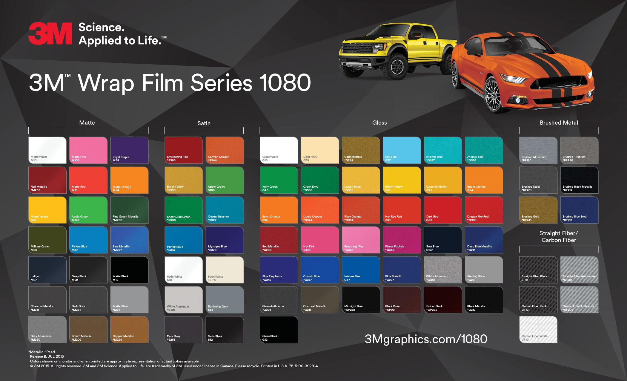 3m Film 1080 Vivid Wraps