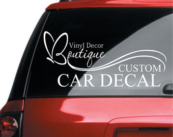 Window Decals For Vehicles Custom Custom Vinyl Decals - Window decals custom vehicle