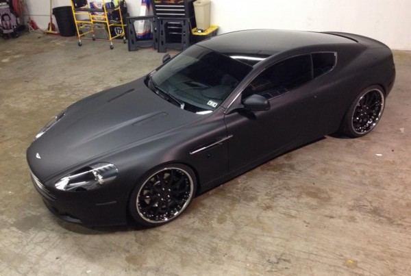 Aston Martin DB9 Matte Black Wrap