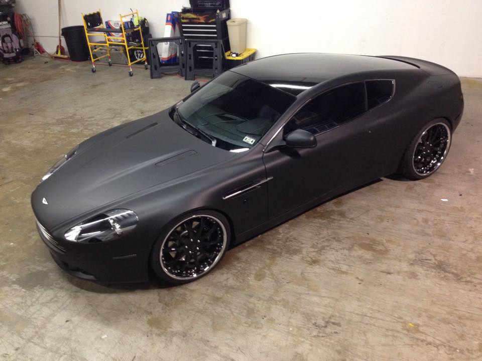Aston Martin Db9 Matte Black Wrap Vivid Wraps