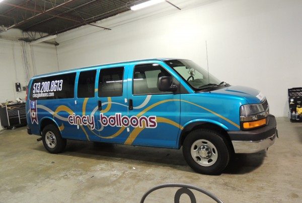 Cincy Balloons Van Wrap