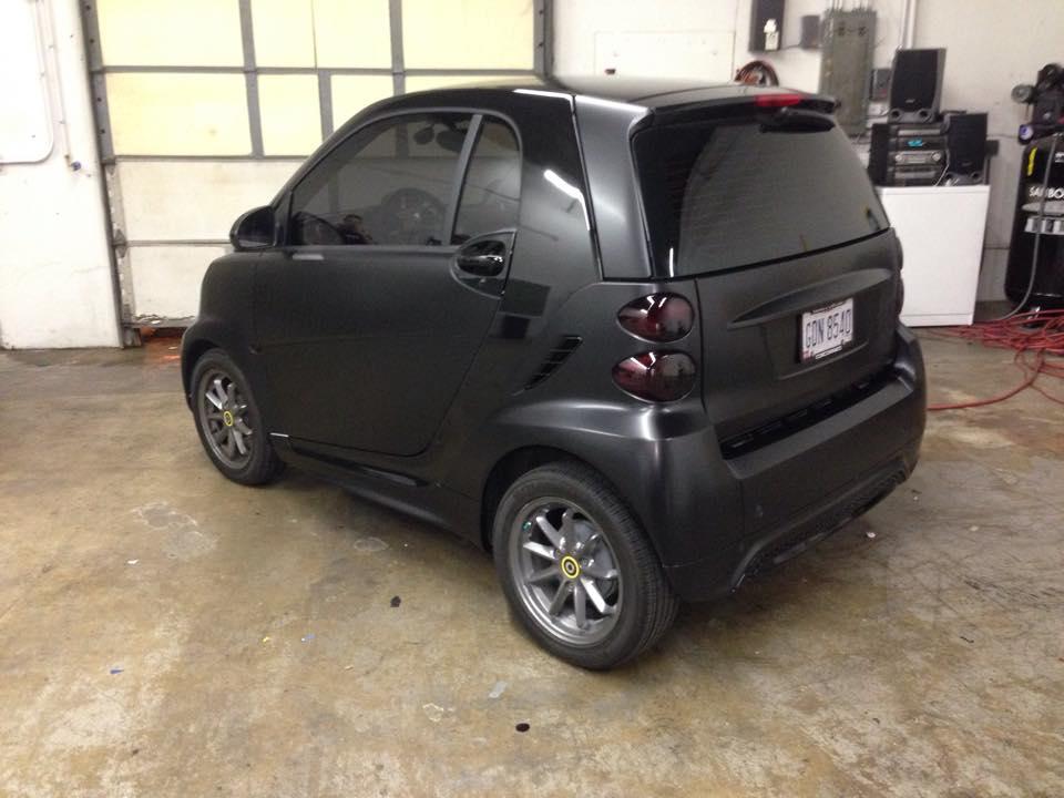 Smart Car Matte Black Vinyl Wrap Vivid Wraps