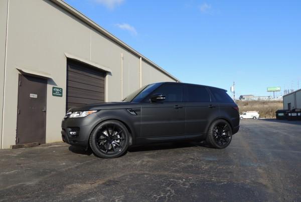 Range Rover Matte Black Vinyl Wrap