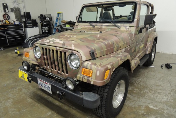 Jeep Multi-Cam Camo Wrap