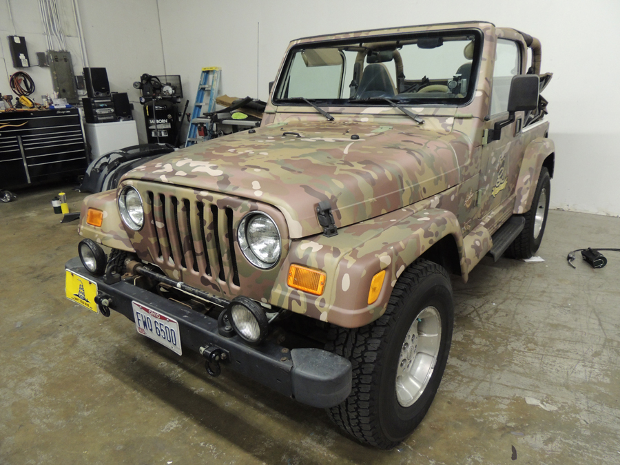 Jeep Multi Cam Camo Wrap Vivid Wraps