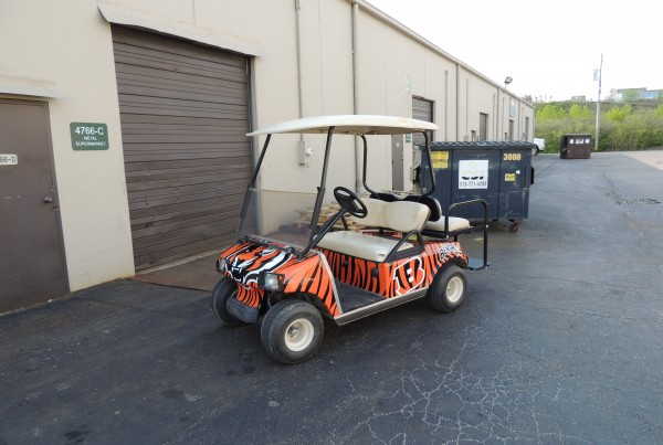 Cincinnati Bengals Golf Cart Wrap