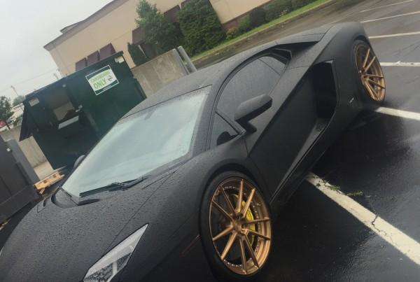 Lamborghini Aventador- Matte Black Wrap