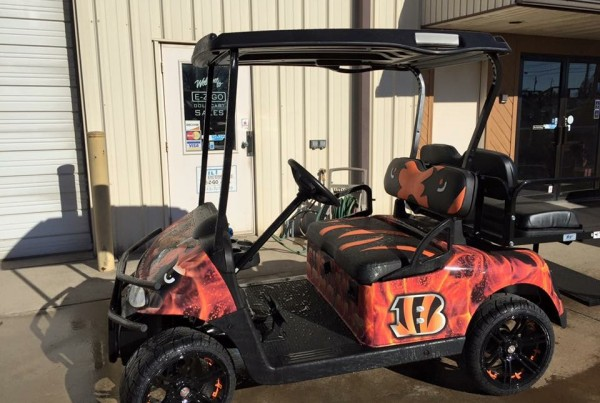 Bengals and OSU Golf Cart Wrap