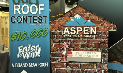 Aspen Roofing trade show display